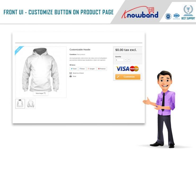 Product personalization addon