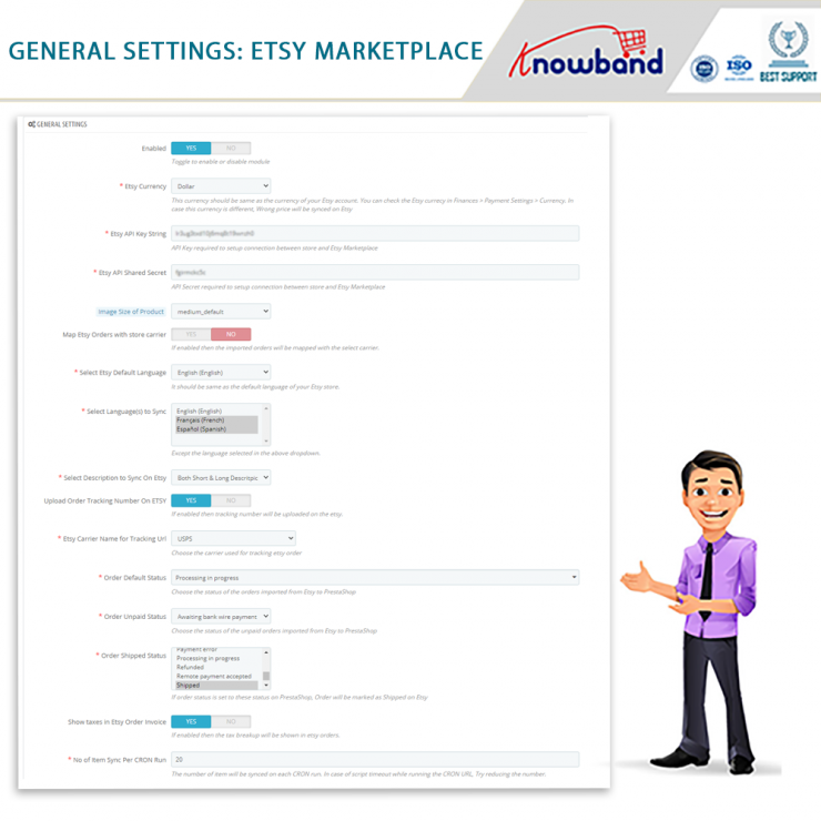 Etsy PrestaShop Integration Extension- Prestashop Marketplace Modules