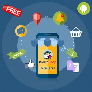 PrestaShop Free Android Mobile App | Smartphone application Builder