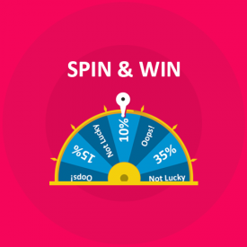 Spin and Win - Abbonamento per entrata, uscita ed e-mail - Add-on Prestashop