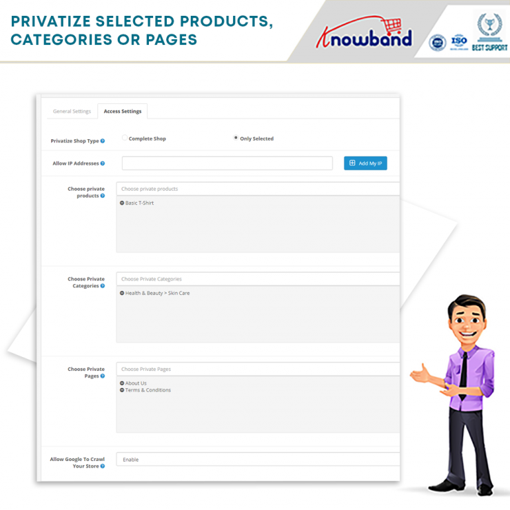 Knowband Restrict categories and products