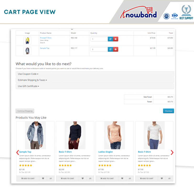 Opencart  related products module