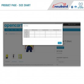 Product Size chart - Opencart Extension