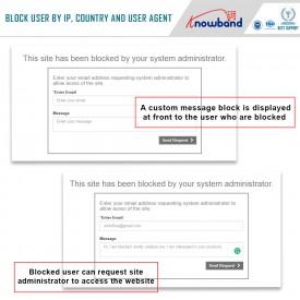 Blokowanie - Blokuj Bota / Użytkownika według kraju IP lub Agenta użytkownika - Dodatki Prestashop