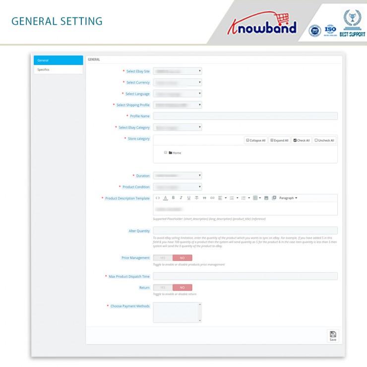 eBay PrestaShop Integration Module - Prestashop Marketplace Modules