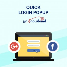 Quick Login popup - Prestashop Addons