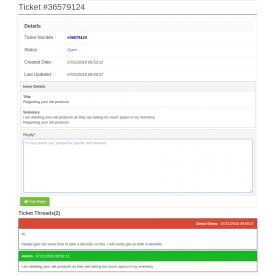 Marketplace Sellers-Admin Ticket System Addon - Prestashop Dodatek