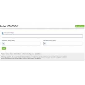 Marketplace Sellers Vacation Mode Addon - Prestashop Dodatki