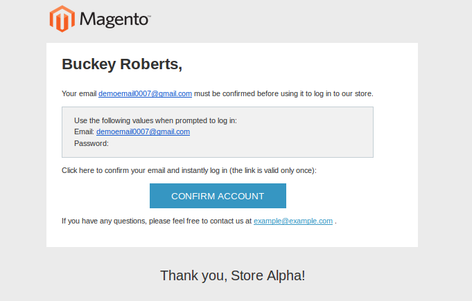 Magento Transactional Emails Templates- New Account Confirm Key | Knowband