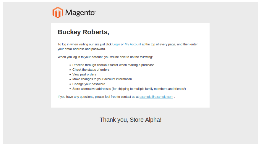 Magento Transactional Emails Templates- New Account Confirmed | knowband