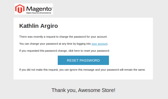 Magento Transactional Emails Templates- Forgot Admin password | Knowband