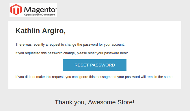 Magento Transactional Emails Templates- forgot password | Knowband