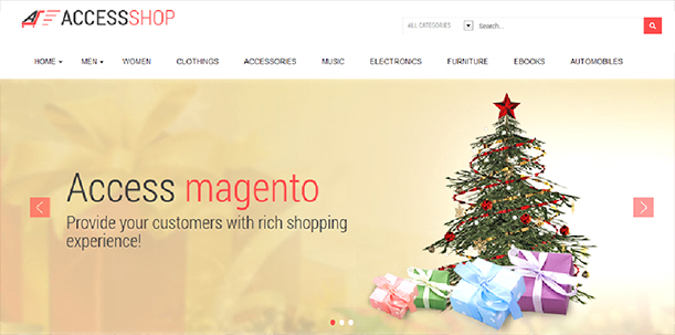Some Top Free 2015 Magento Themes for your store- AccessShop | Knowband