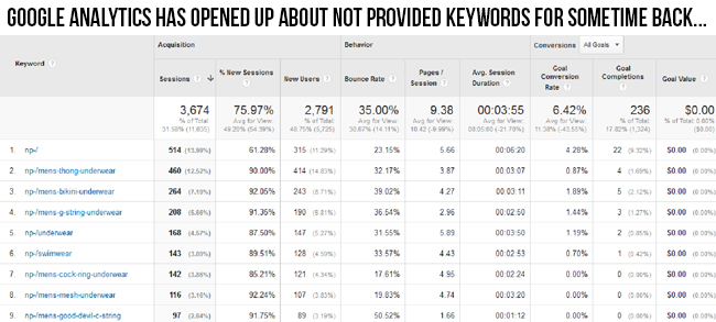 Changed Google Analytics Dashboard Has Given Attention To Not Provided Keywords | Knowband