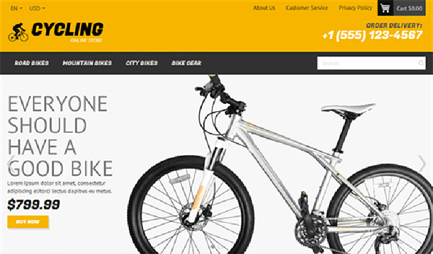 Some Top Free 2015 Magento Themes for your store- Cycling | Knowband