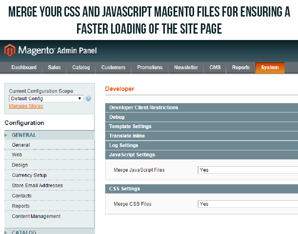 Turbo Boost Your Magento Site With These Tips- Merge the CSS and javascript files into one single component | Knowband