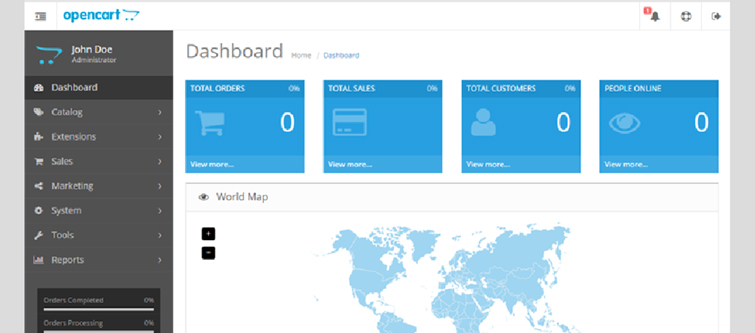 How is OpenCart 2.xx better than OpenCart 1.xx- Offers an intuitive and user friendly dashboard | Knowband