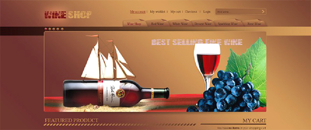 Some Top Free 2015 Magento Themes for your store- Wine Shop | Knowband